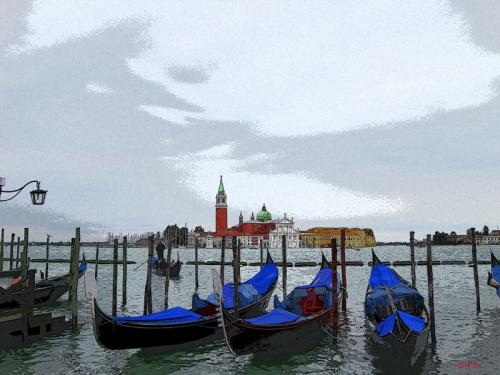 isola di san giorgio,venezia,san giorgio venezia,venezia quadri,venezia arte,venezia pittura digitale,veneto,italia,europa
