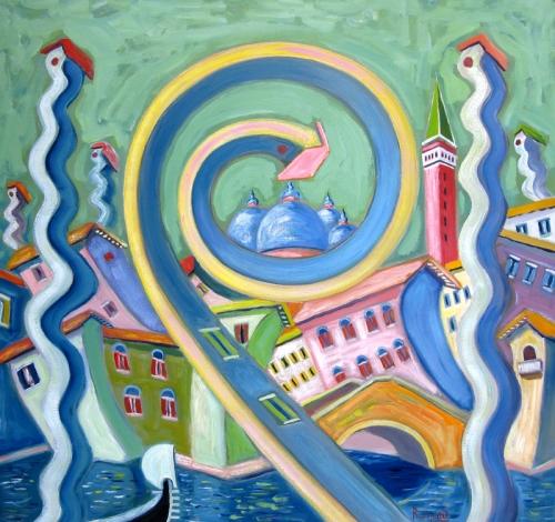 venezia pittura,venezia arte,venezia quadri,venezia artisti, venezia surrealista,venezia colorata,venezia fantastica,venezia