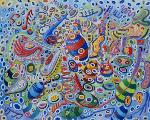 festa,astrazione,musica,colori,amore,pittura,arte,artisti,quadri,oli su tela