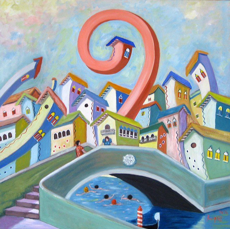 casa rosa veneziana