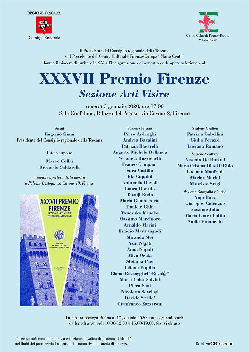 Invito Mostra dal Premio Firenze